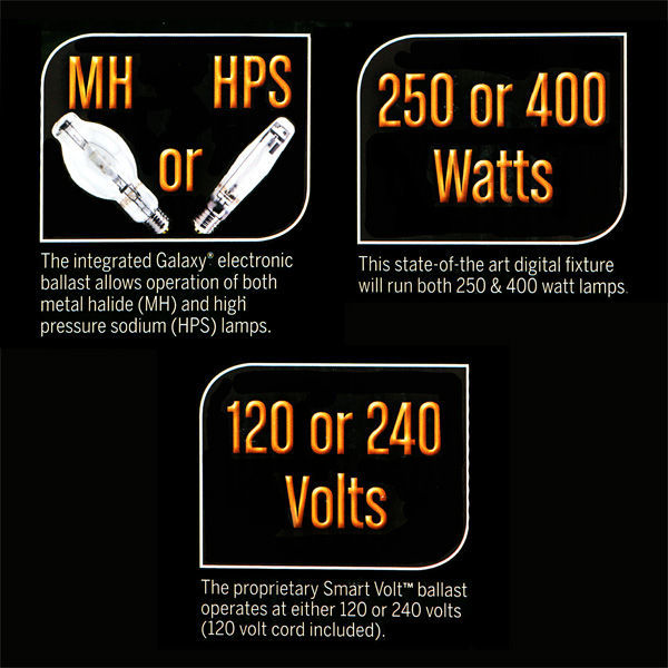 250 or 400 Watt - Digital Grow Light Reflector Kit Image