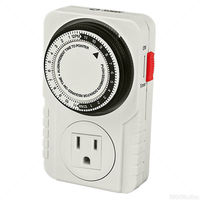 Titan Controls 734110 - Apollo 6 - 24-Hour Indoor Analog Timer - 1 Outlet - 1800 Max. Wattage - 120V - 15A