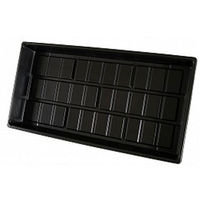 10 in. x 20 in. Cut Kit Propagation Tray - Seed Flat - Without Holes - Black - Hydrofarm CKTRAY