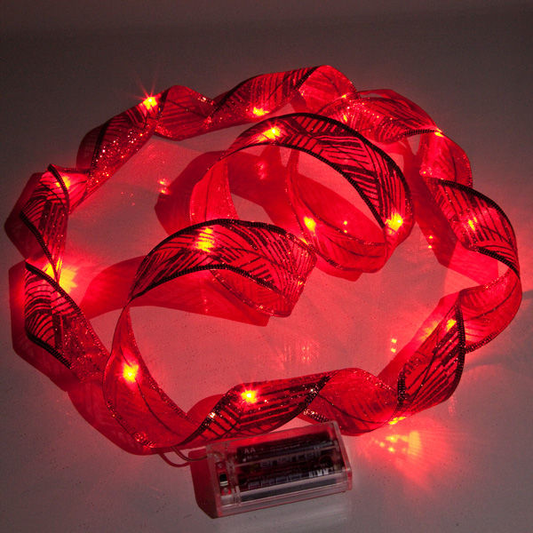 6 ft. Lighted Length - 1.5 in. Width - RED Ribbon Image