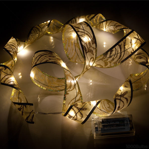 6 ft. Lighted Length - 1.5 in. Width - GOLD Ribbon Image