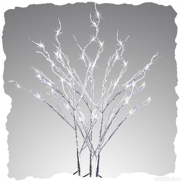 (48) LED - 3 Silver Stem Twig Lights Image