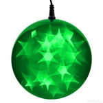 (24) GREEN LEDs - 6 in. dia. Holographic Starfire Sphere Image