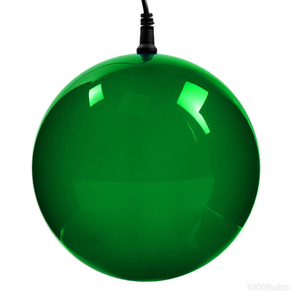 LED - 6 in. dia. Green Holographic Starfire Sphere - Utilizes 24 LED Mini Lights Image