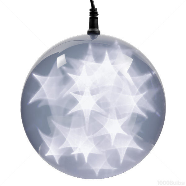 (24) COOL WHITE LEDs - 6 in. dia. Holographic Starfire Sphere Image
