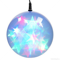 (24) MULTI-COLOR LEDs - 6 in. dia. Holographic Starfire Sphere - Black Wire - Indoor/Outdoor - Battery Operated with Timer