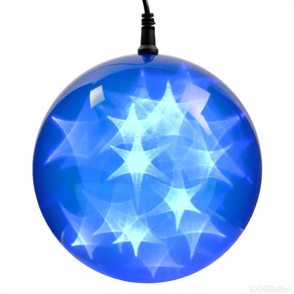 (24) BLUE LEDs - 6 in. dia. Holographic Starfire Sphere Image