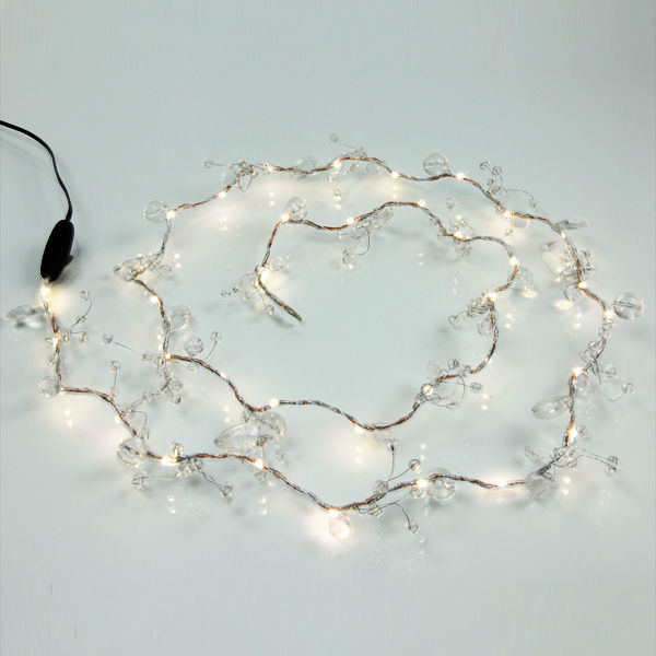 (36) LED - Clear Jewel Bead Garland Image