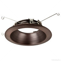 6 in. - Tuscan Bronze Trim with Micro-Step Baffle - Fits Halo LED Downlight Modules - Halo 693TBZB