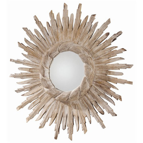 Arteriors DR2026 - Hand Carved Wood Wall Mirror Image