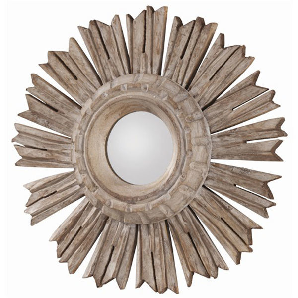 Arteriors DR2038 - Hand Carved Wood Wall Mirror Image