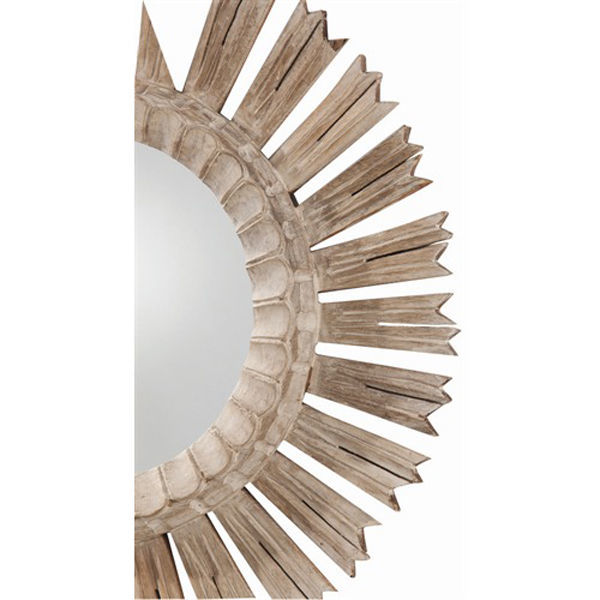 Arteriors DR2025 - Hand Carved Wood Wall Mirror Image