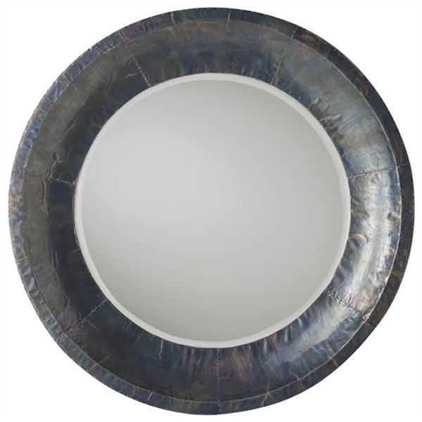 Arteriors 2657 - Beveled Wood and Iron Wall Mirror Image