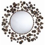 Arteriors 3132 - Abstract Iron Disk Wall Mirror Image