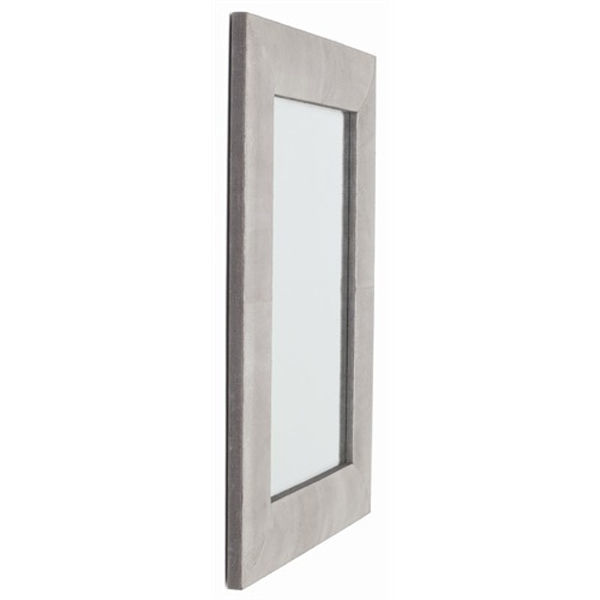 Arteriors DK6000 - Mojave Rectangle Crackled Leather Wall Mirror Image