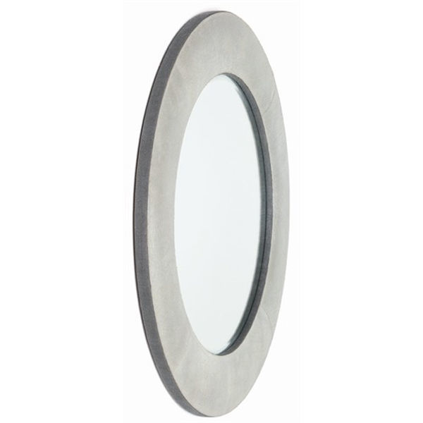 Arteriors DK6001 - Mojave Round Crackled Leather Wall Mirror Image