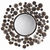 Arteriors 3149 - Small Abstract Iron Disk Wall Mirror