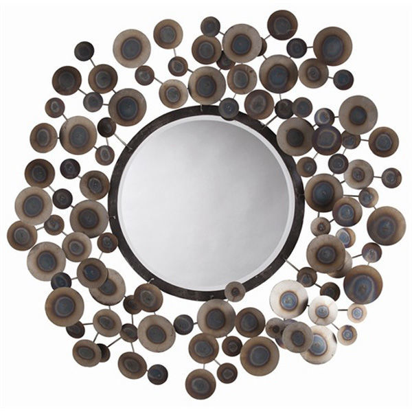 Arteriors 3149 - Small Abstract Iron Disk Wall Mirror Image