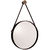 Arteriors 3002 - Hanging Round Wall Mirror with Leather Strap