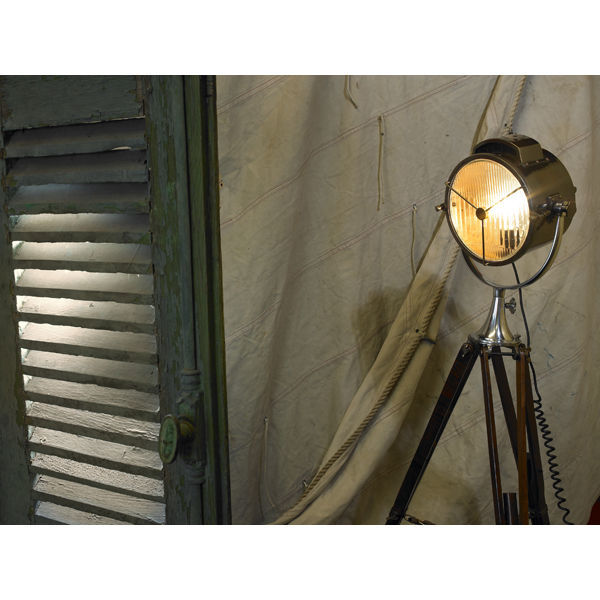 Authentic Reproduced Coast Guard Patrol Spotlight - Floor Lamp Image