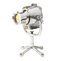 Authentic Reproduced Playhouse Cinema Light - Table Lamp - Made of Hand Polished Aluminum - 1 Light - Authentic Models SL066