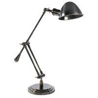 Authentic Reproduced 1930's Concorde Desk Lamp - Adjustable - Made of Solid Brass -  1 Light - Authentic Models SL064