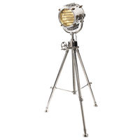 Authentic Reproduced Marconi II - Adjustable Floor Lamp - Made of Hand Polished Aluminum and Solid Brass - 1 Light - Authentic Models SL048