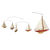 A-Cup Mobile - (4) Handcrafted J-Yacht Colored Miniature Models