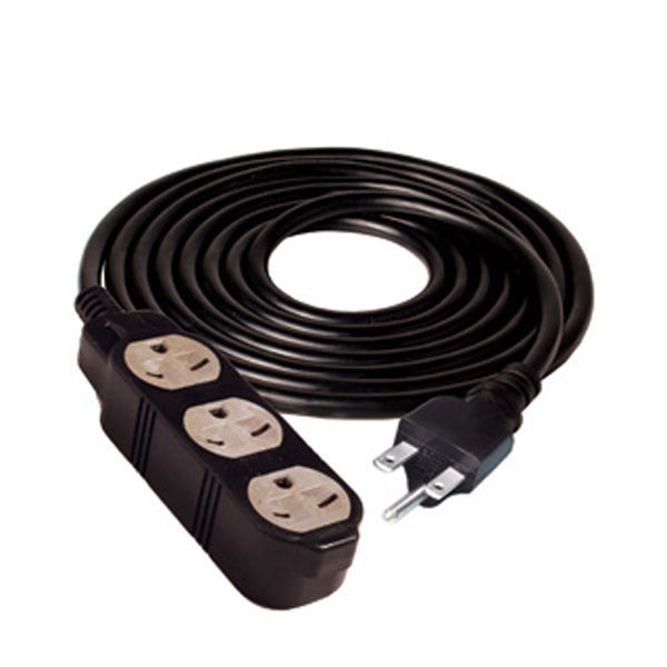 hydrofarm bacde24025 25 ft black extension cord