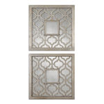 Uttermost 13808 - (Set of 2) Decorative Square Wall Mirrors Image