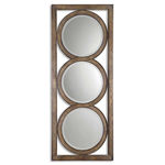 Uttermost 13533 B - Open Three Circle Wall Mirror Image