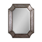 Uttermost 13628 B - Hammered Aluminum Octagon Wall Mirror Image