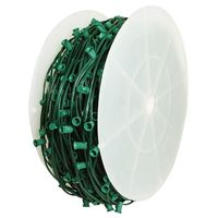 C7 Stringer - 500 ft. - 500 Candelabra Sockets - Green Wire - Socket Spacing 12 in. - SPT-1