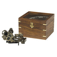 Authentic Reproduced Sextant In Case - Made of Brass - Navigation Tool - Wooden Case Included - Authentic Models KA032