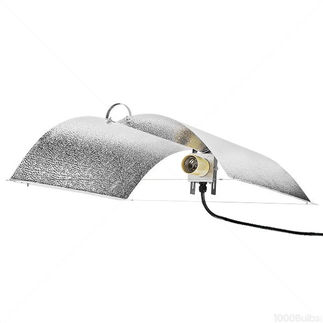 Wing Grow Light Reflector - MH or HPS - Adjustable Widths - Mogul Socket - Operates up to 600 Watt Lamp - Ballast and Lamp Sold Separately