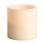 6 in. ht. - 6 in. dia. - 3 Wicks - Bisque Color - LED Flameless Grand Wax Pillar Candle Image