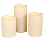 (Set of 3) - 6, 7, 9 in. ht. - 4.5 in. dia. - BISQUE COLOR Image