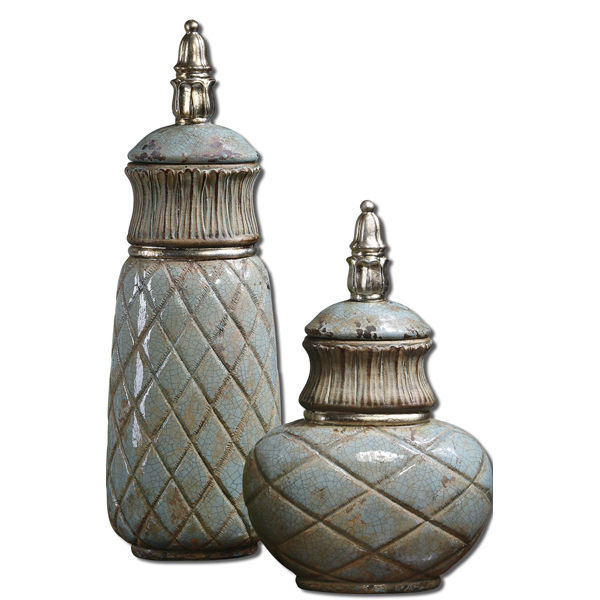 Uttermost 19689 - (Set of 2) Ceramic Decorative Containers Image