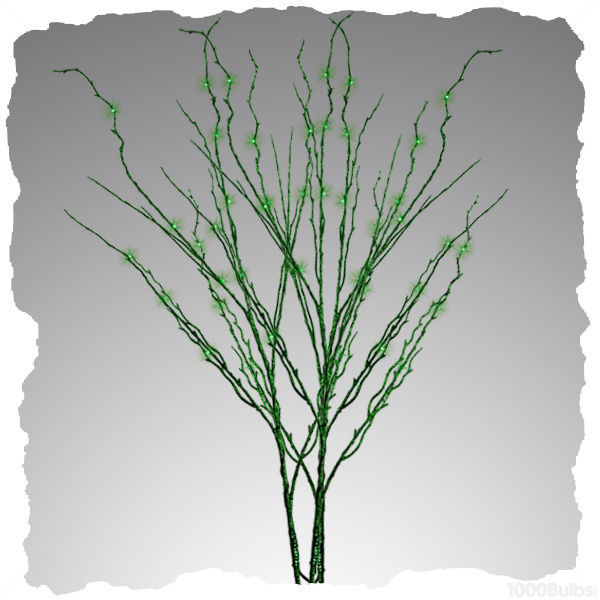 (48) LED - 3 Green Stem Twig Lights Image