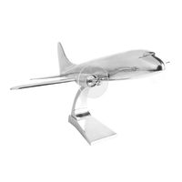 1930s DC-3 - Desktop Airplane Model - Made of Solid Hand Cast Aluminum - Authentic Models AP110