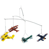 1920s Flight Mobile - (4) Plane Models - Made of Solid Wood with Stainless Steel Wiring - Authentic Models AP120