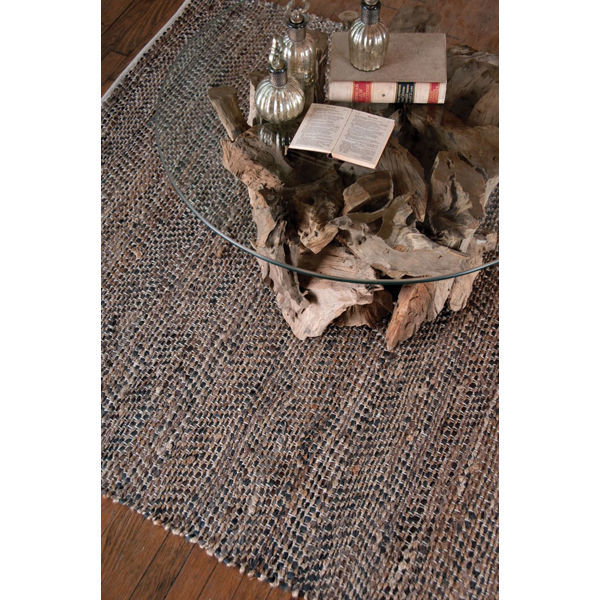 Uttermost 71001-8 - Tobais Rescued Leather and Natural Hemp Rug - 8 ft. x 10 ft. Image