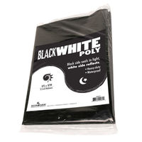 Black and White Poly Film - 10 x 25 ft. 5.5 mil. - Heavy Duty - Waterproof Film - ABWP25 by Hydrofarm