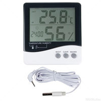 EcoPlus 716560 - Large Display Thermometer/Hygrometer - Waterproof - Indoor/Outdoor Use - Battery Operated