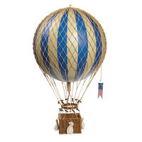 22 in. Height - Blue Royal Aero - Hot Air Balloon Model - Features Hand-Knotted Netting and Rattan Basket - Authentic Models AP163D