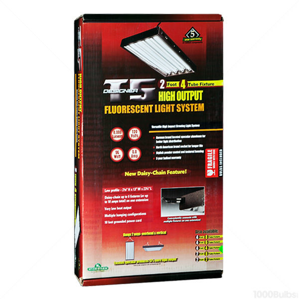 HydroFarm  FLP24 - 2 ft. - 4 Lamp - F24T5-HO - Fluorescent Grow Light Fixture Image
