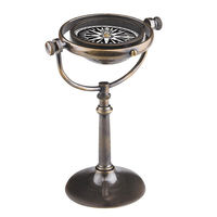 Collector's Compass - Features Solid Brass Stand in Antique Bronze Finish - Authentic Models CO017