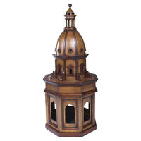 Duomo Due - Dome Architectural Model - 10 in. L x 10 in. W x 24.5 in. H - Features Solid Cherry and Birch Wood with Honey Finish - Hand Crafted - Authentic Models AR014