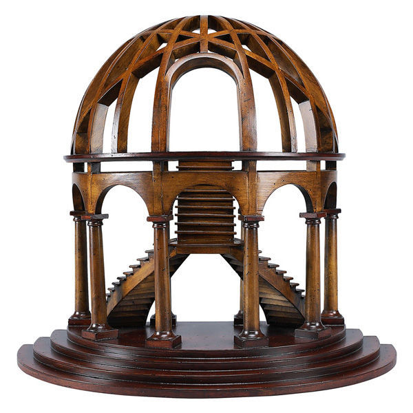 Demi-Dome - Half Dome and Staircase Architectural Model Image