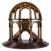 Demi-Dome - Half Dome and Staircase Architectural Model - 18 in. L x 10 in. W x 16 in. H - Features Solid Cherry and Birch Wood with Honey Finish - Hand Crafted - Authentic Models AR015